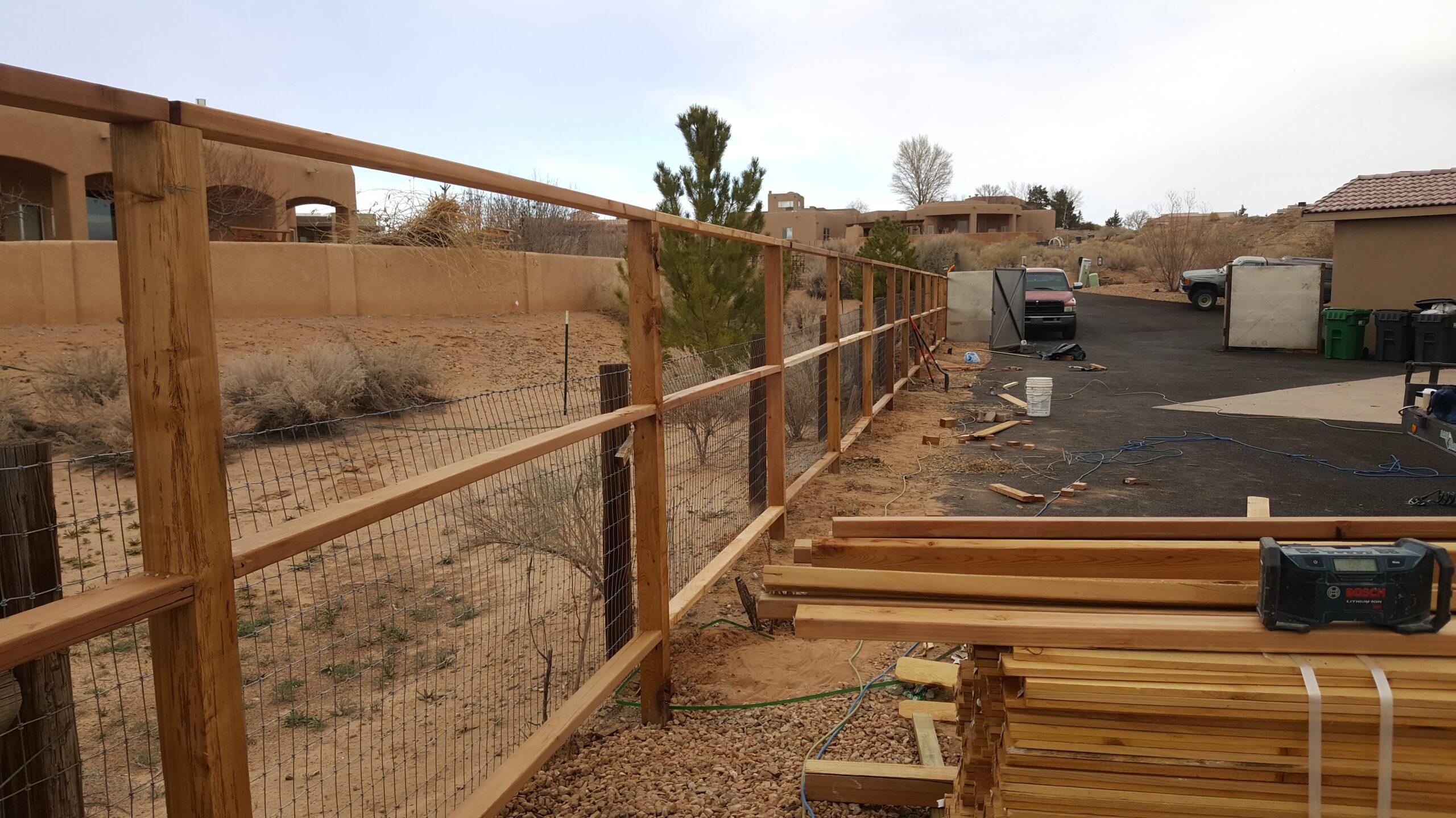 image showing cedar fence