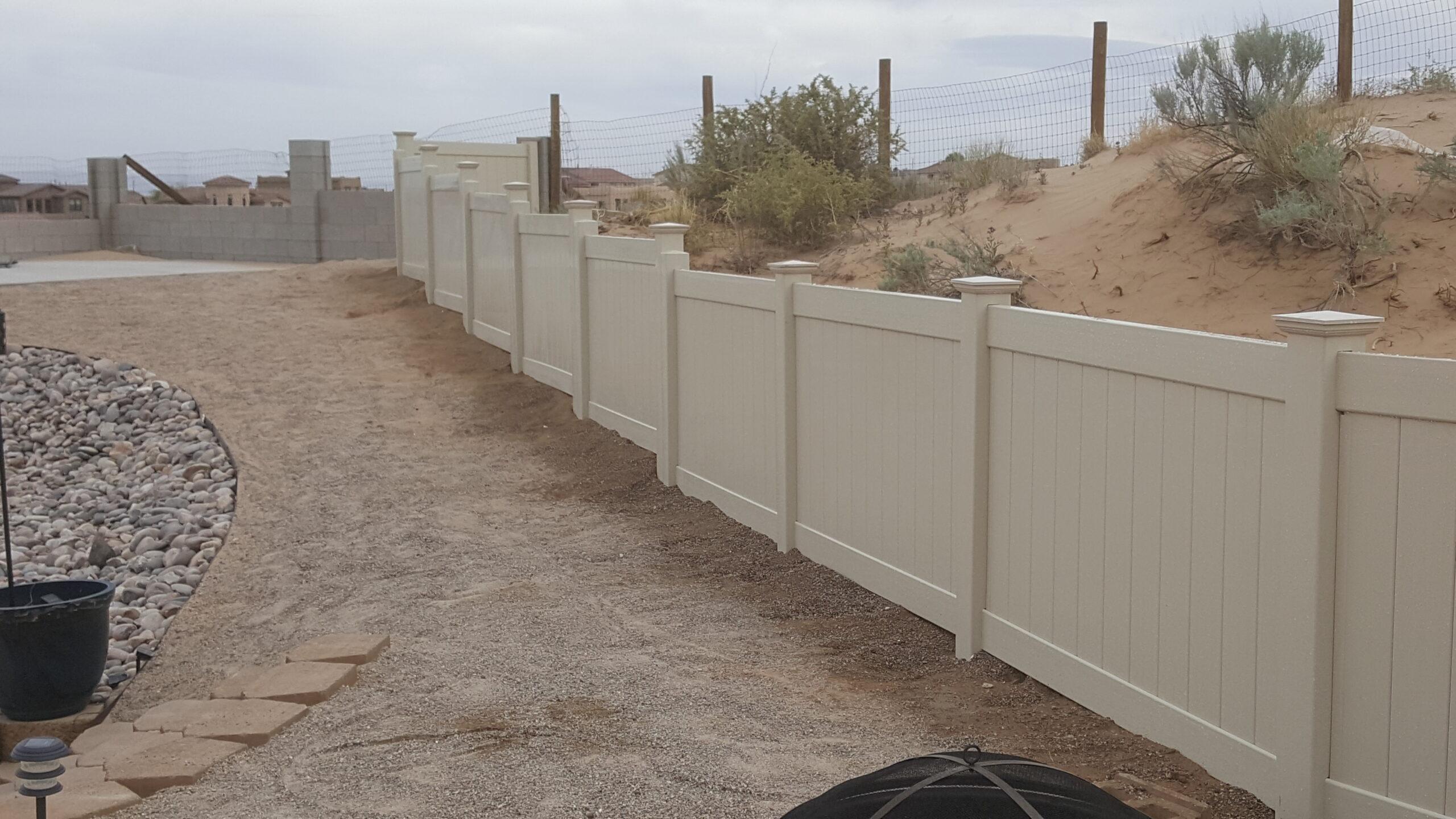image showing vinyl fence