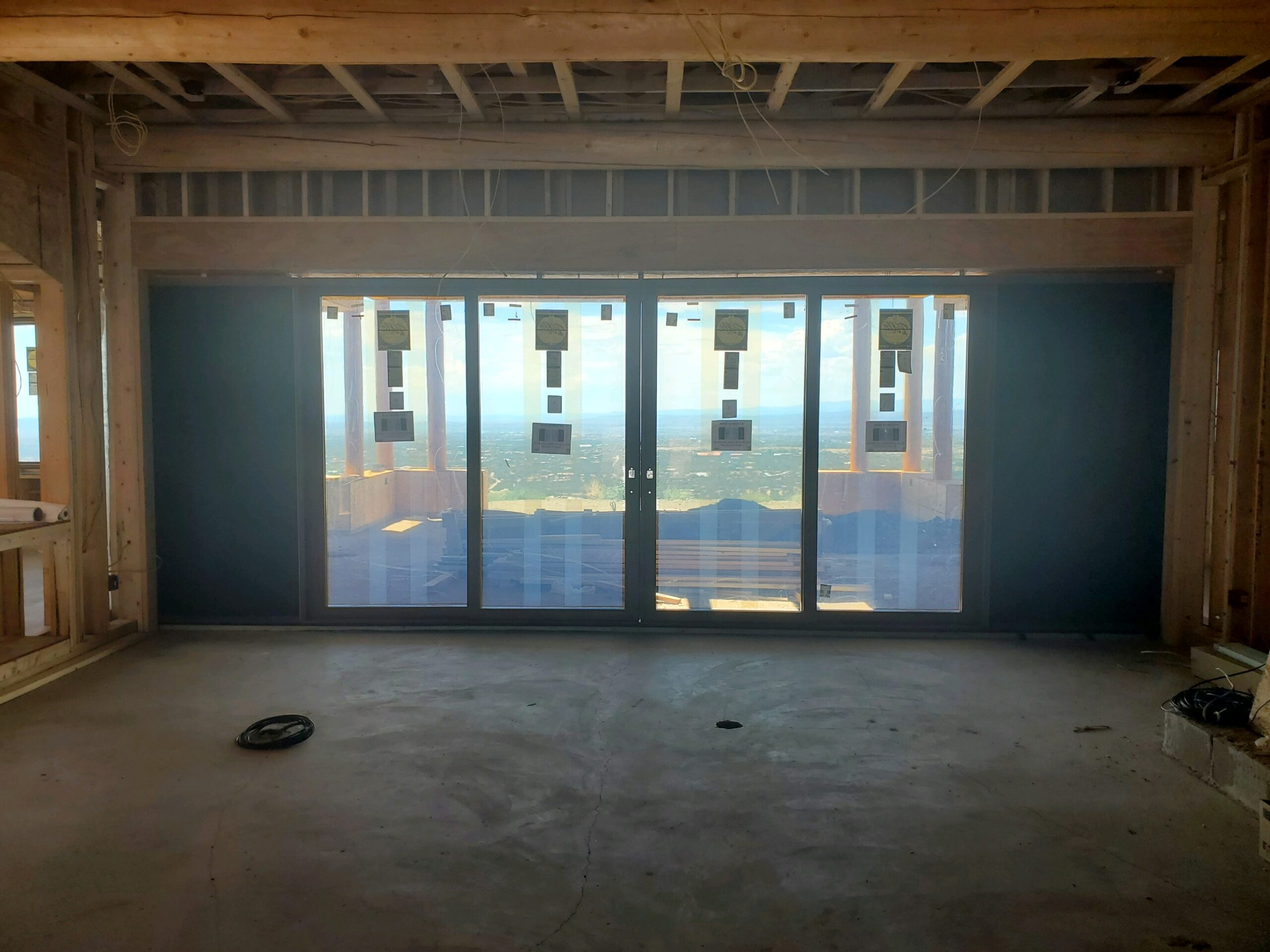 image showing new construction door install