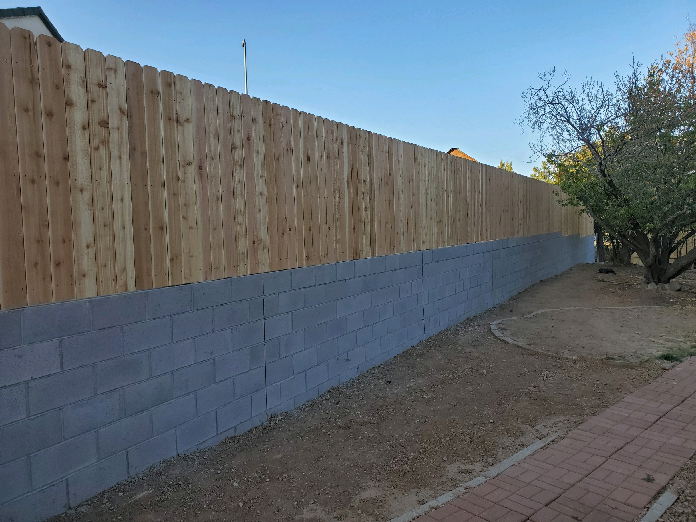 image showing completed retainer wall