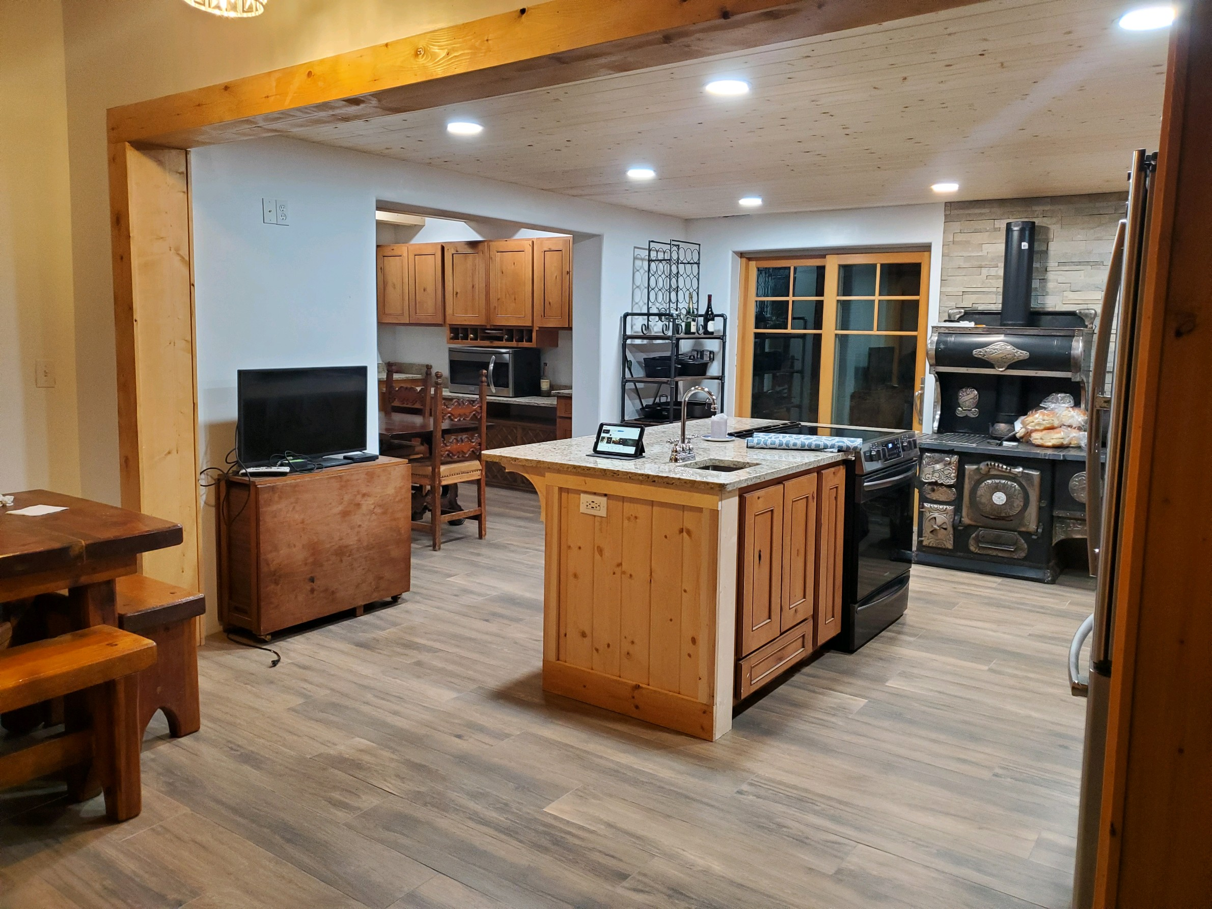 image showing flooring job in kitchen remodel